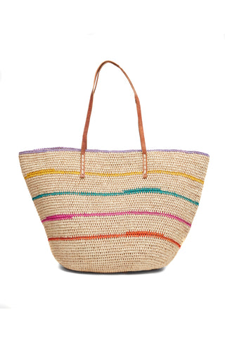 Cielo Crocheted Raffia Shoulder Tote