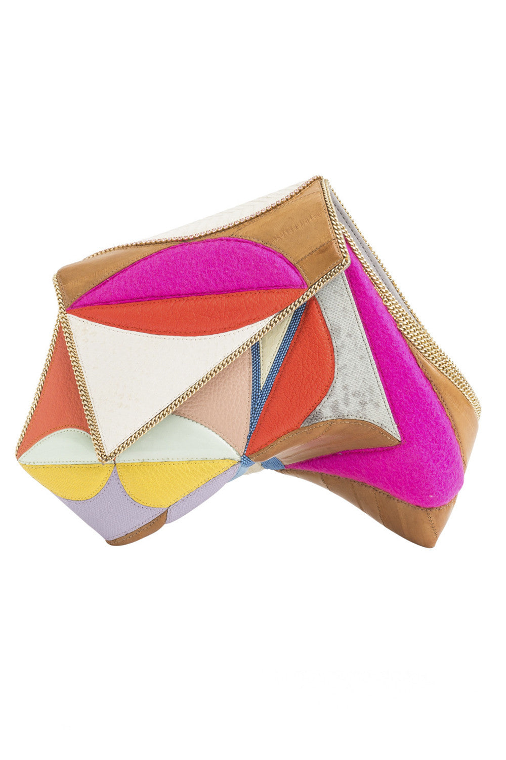 CIRQUE Clutch in Orange & Pink