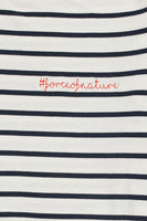 #forceofnature Francoise Top in Marine Stripe thumbnail
