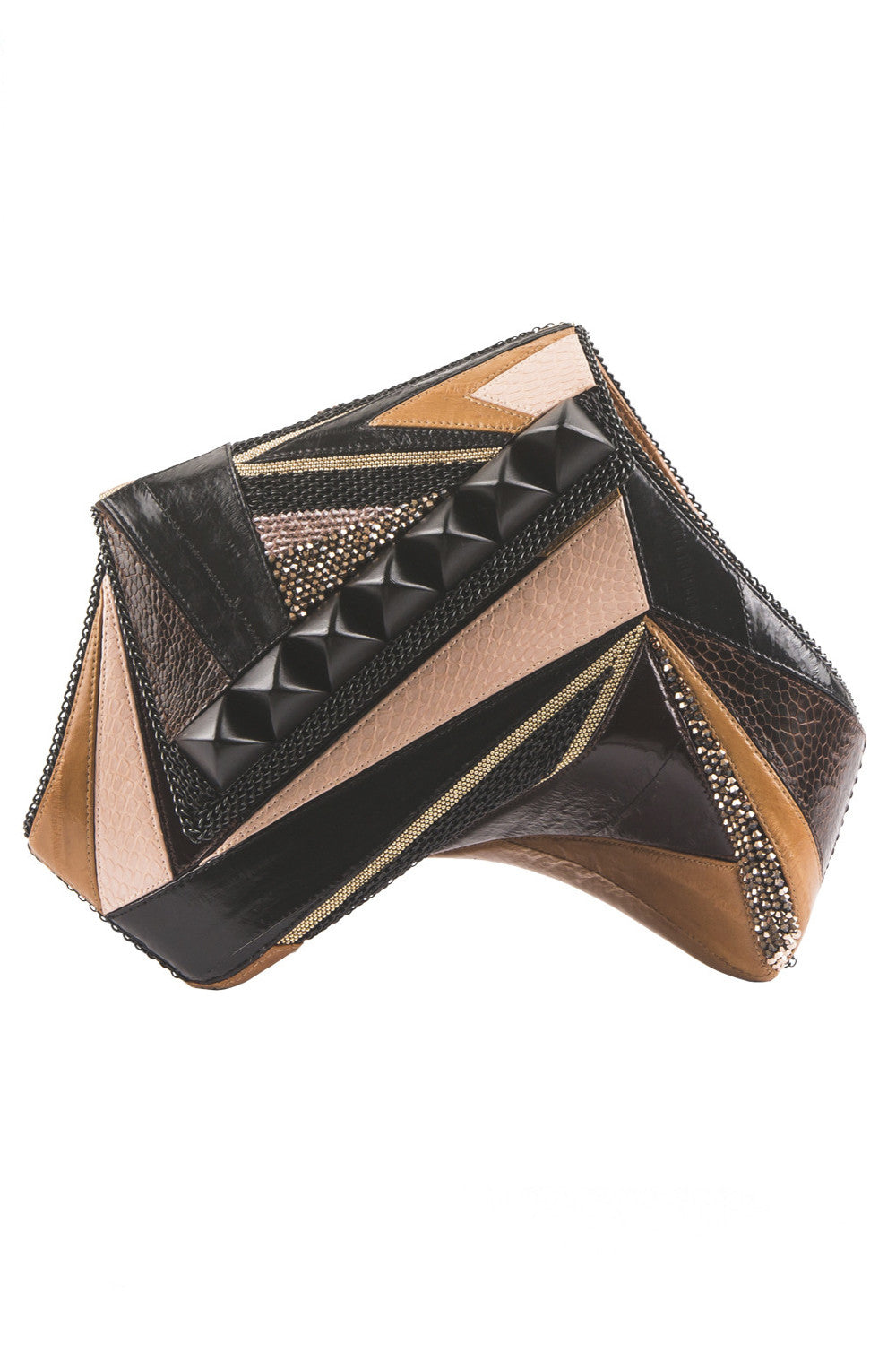 DIABOLIQUE Clutch in Black & Tan