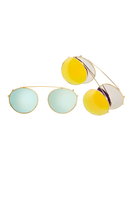 Dyad 6 Frame with Golden Aqua Lenses & Honey Aluminum Inlay thumbnail