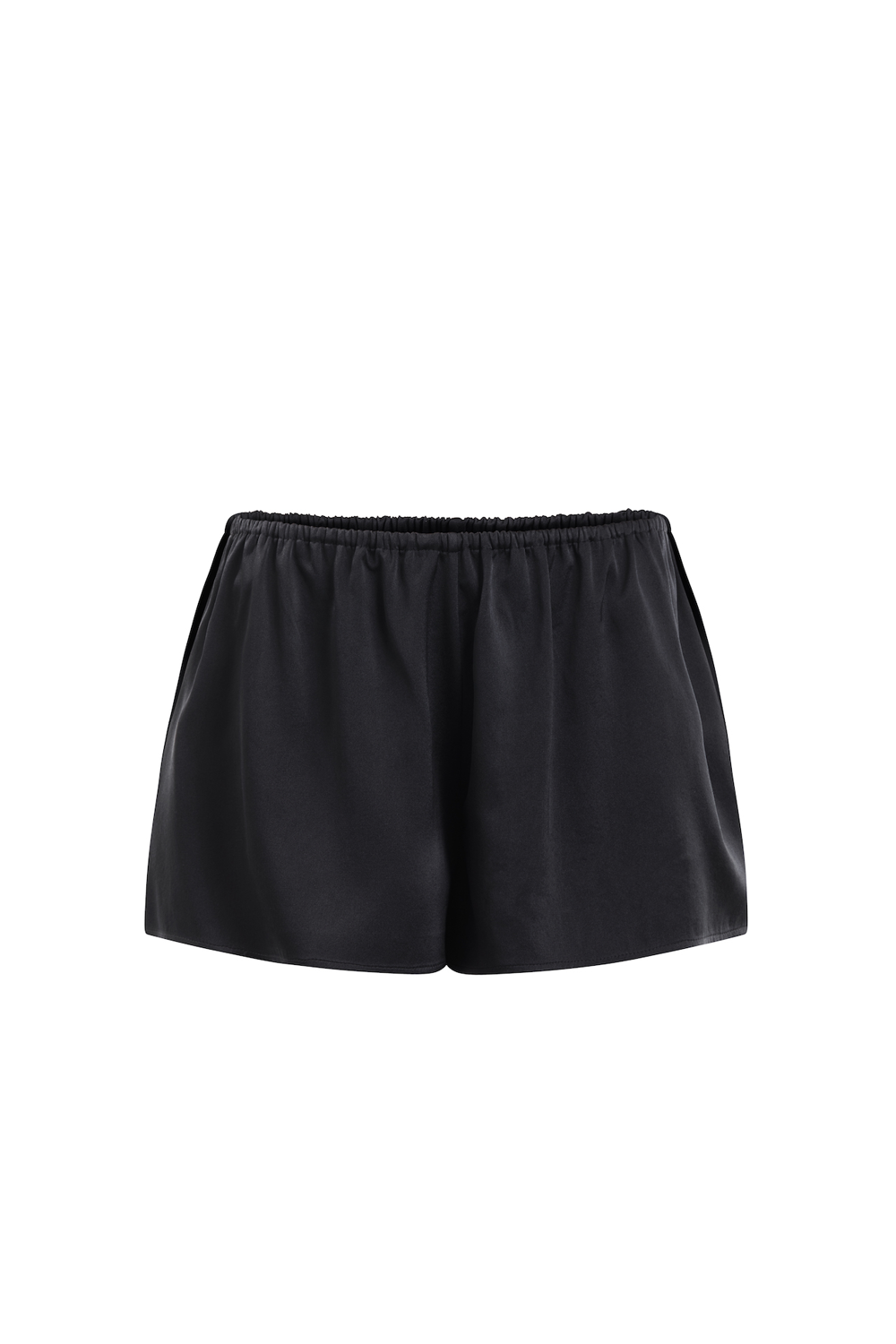 White Lotus organic peace silk shorts black