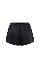 White Lotus organic peace silk shorts black thumbnail