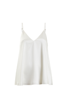 White Lotu double faced organic peace silk camisole Ivory thumbnail