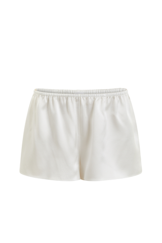 White Lotus organic peace silk shorts Ivory