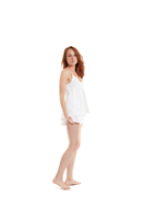 White lotus organic peace silk cami sleep set ivory thumbnail