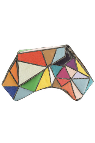 FRACTAL Medium Clutch in Multi