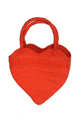 Corazon Rojo Heart Bag in Red