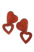 Heart Earrings in Red thumbnail