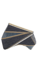 INDIGO Clutch in Denim & Silver thumbnail
