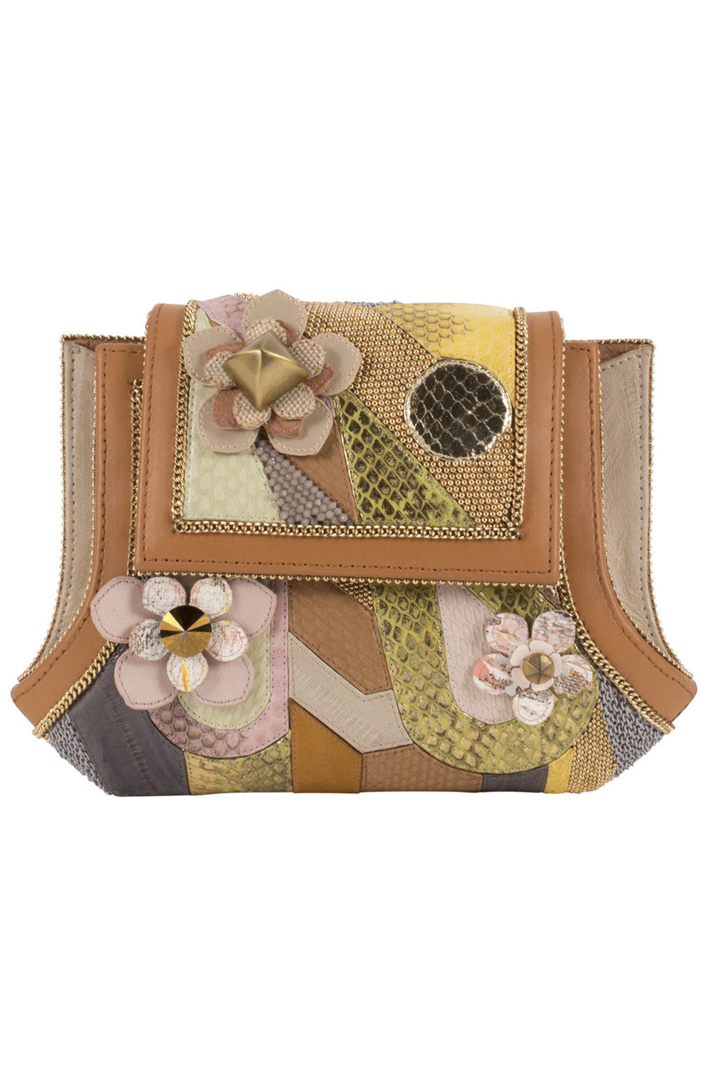 MANDALAY Clutch in Multi Tan