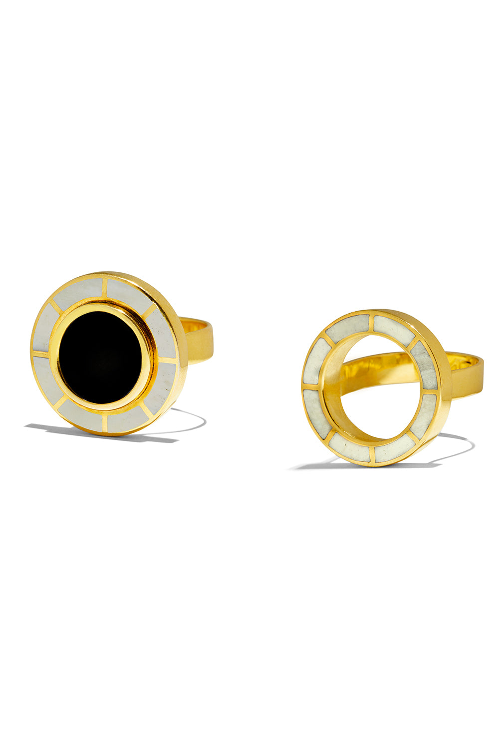Brujo Half Orbit Rings in Black & White