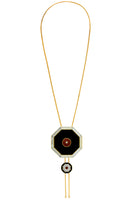 Curis Bolero Necklace in Black, White & Red thumbnail