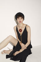 Ica Bolero Necklace in Red, White & Black thumbnail