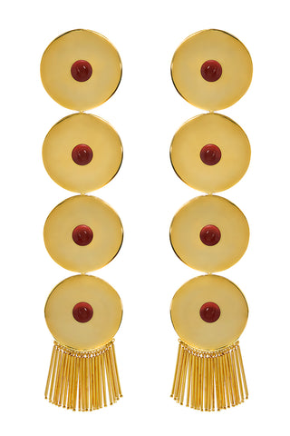 Ica Earrings in Red