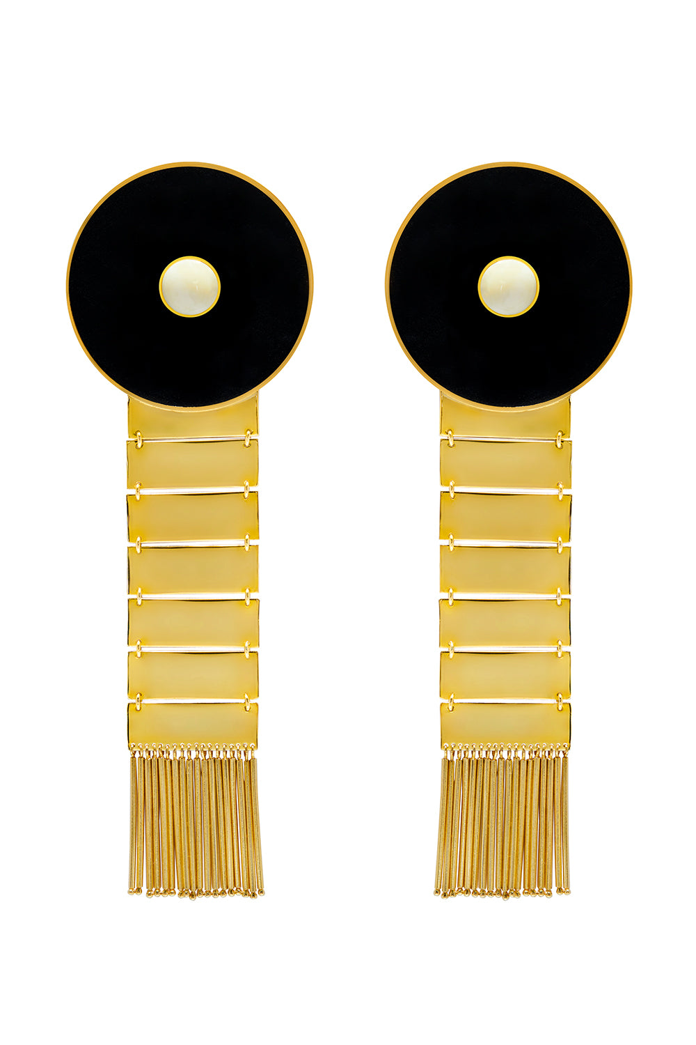 Kon Earrings in Black & White
