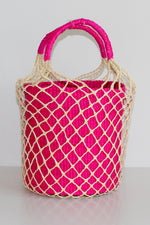 Net Bucket Bag in Bright Pink thumbnail