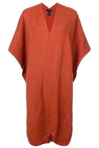 Alpaca Short Duster in Burnt Orange