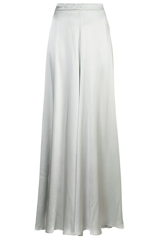 Palazzo Pant in Silver Charmeuse