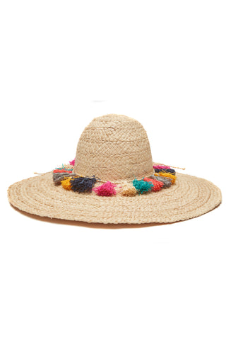 Paloma Natural Braided Raffia Sun Hat