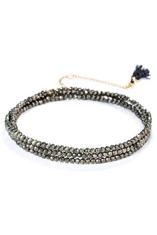 Black Label Pyrite Bracelet