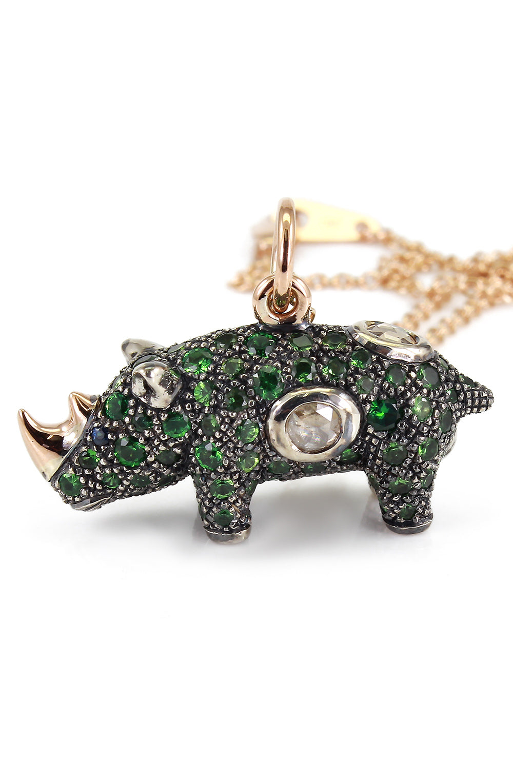 Green Rhino Necklace