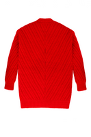 Fort Point Ribbed Cardigan in Poppy Red thumbnail