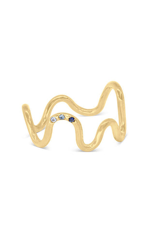 Squiggle Mama Ring with 3 Stones