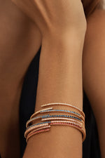 Twilight Ruby Hinge Bangle thumbnail