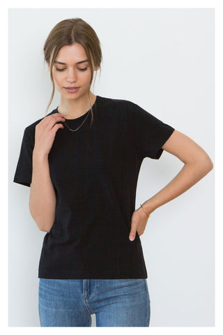 Adry Organic Cotton Crew Neck T-Shirt in Black