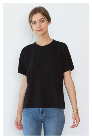 Bevin Black Organic Cotton Boyfriend T-Shirt