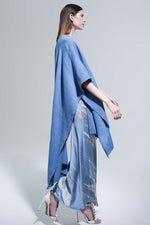 Cotton Short Duster in Cornflower Blue thumbnail