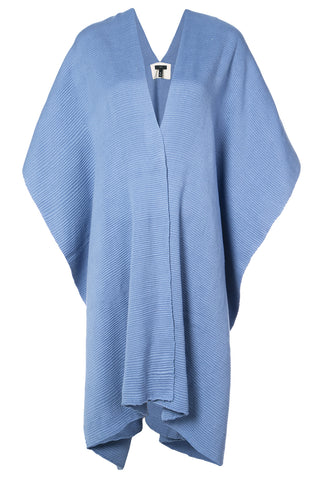 Cotton Short Duster in Cornflower Blue