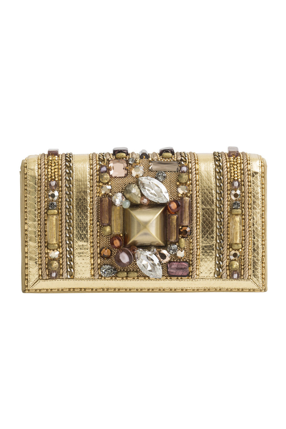 THEBES Clutch in Gold