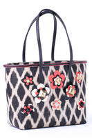 TINALAK Tote in Black with Red Flowers thumbnail