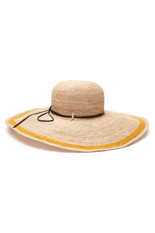 Tori Sunflower Crocheted Raffia Sun Hat