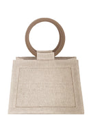 Echo Linen Bag In Beige thumbnail