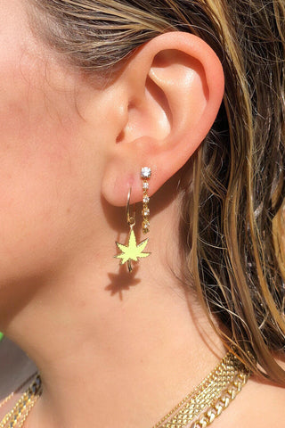 High Society Leaf Earring