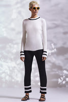 White Stripe Crop Trousers thumbnail