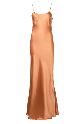 Liquid Silk Slipdress - Terracotta