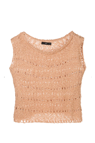 Knit Crop Top Flamé - Apricot
