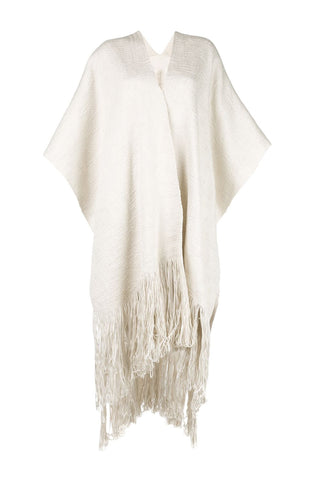 Curvy Fringe Duster - Pearl