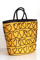 Corazones Tote Bag in Yellow & Black thumbnail