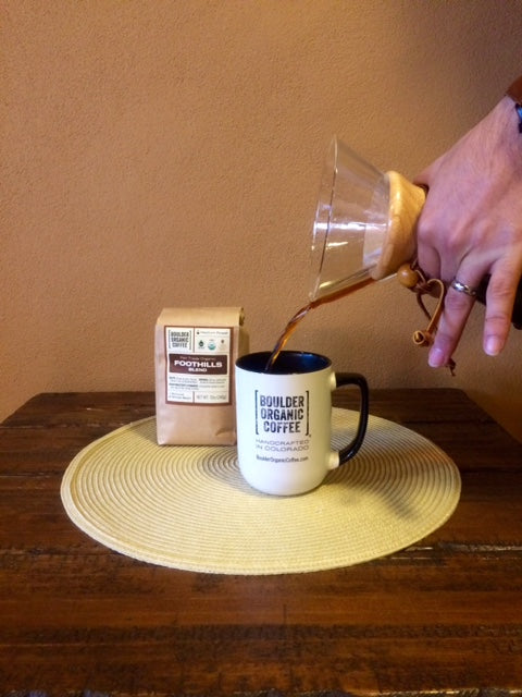 How To Brew Coffee With A Chemex Boulder Organic Coffee