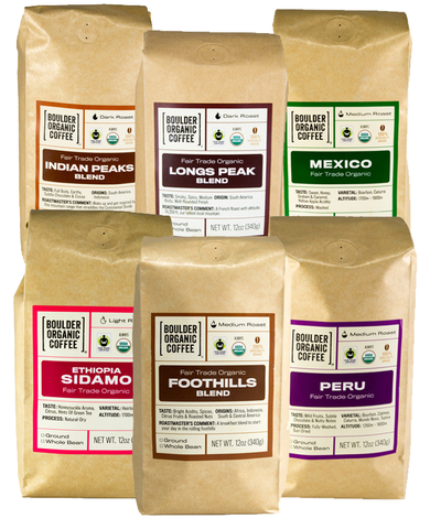 Coffee of the Month - Taste of Boulder Organic, FTO