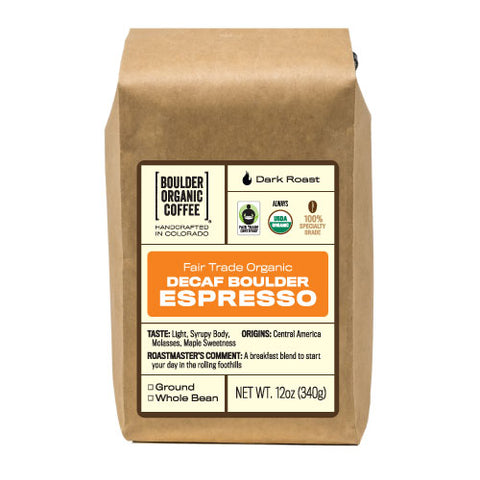 Boulder Espresso - Decaf, Fair Trade & Organic