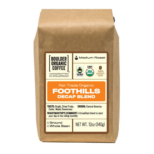 Foothills Blend - Decaf, Fair Trade & Organic
