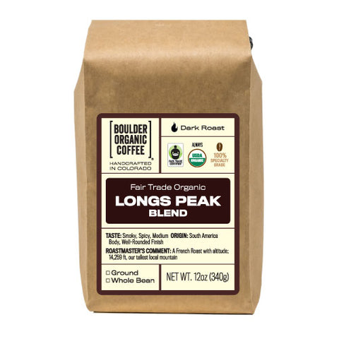 Longs Peak Blend, Fair Trade & Organic