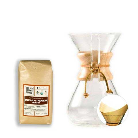 Chemex Pourover Starter Kit with Filters + FREE BAG OF COFFEE