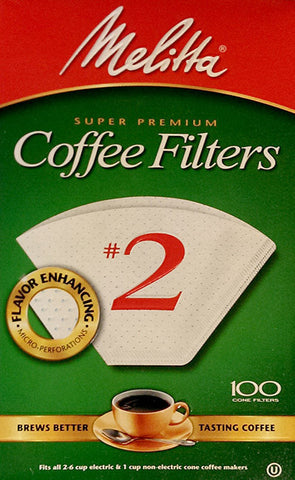 Melitta Cone Coffee Filters - 100 ct - #2 White